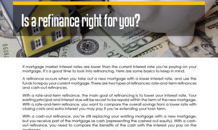 FARM: Is a refinance right for you?