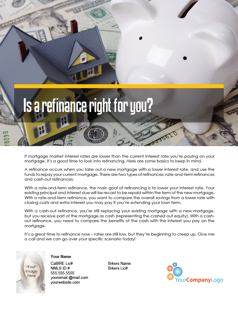 Farm Is A Refinance Right For You First Tuesday Journal