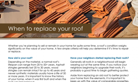 FARM: When To Replace Your Roof