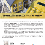Listing income property