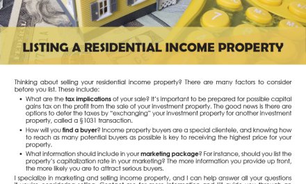 FARM: Listing a residential income property