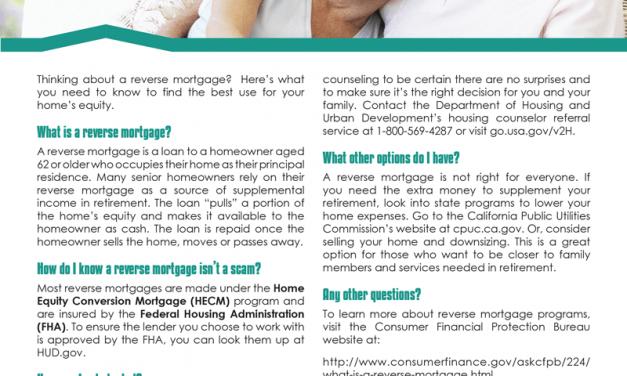 FARM: Reverse mortgage smarts