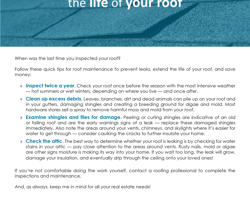FARM: Quick tips to extend  the life of your roof