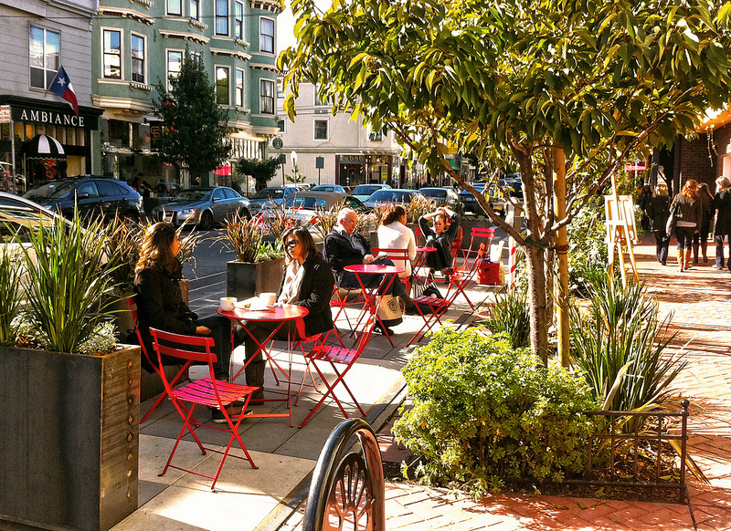 From carparks to parklets — softening up the city streets