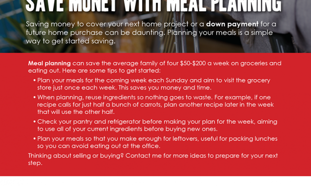 FARM: Save money with meal planning