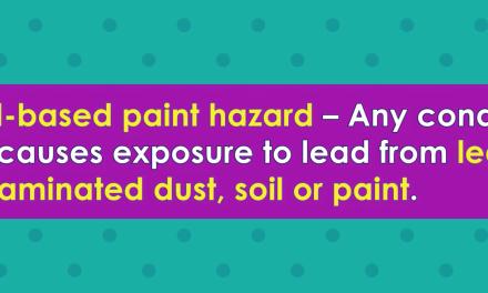Word-of-the-Week: Lead-based paint hazard