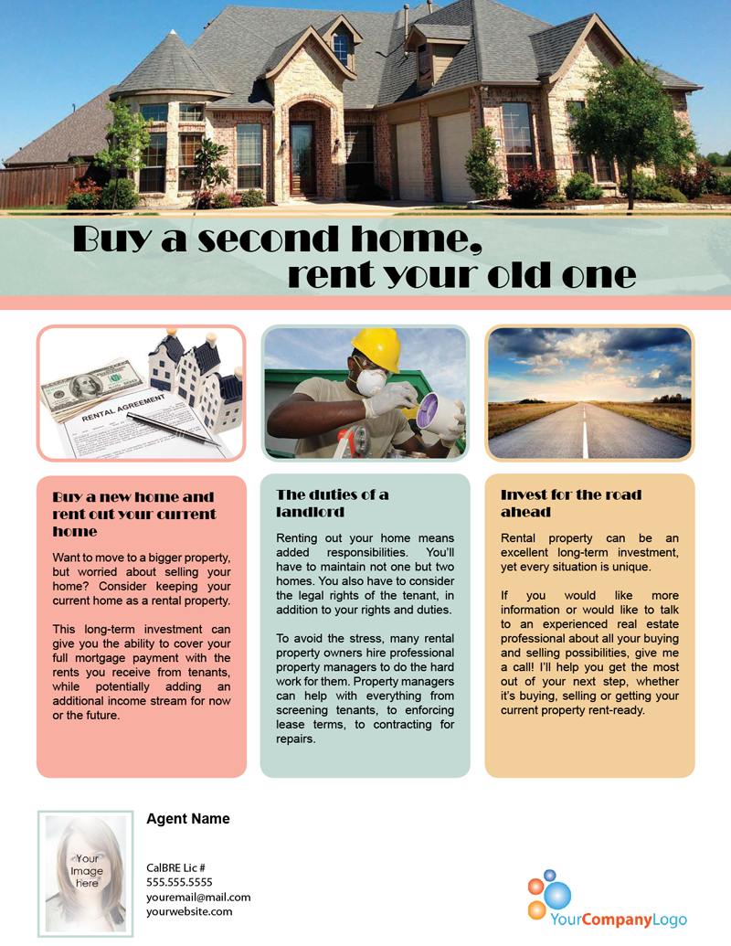 farm  buy a second home  rent your old one