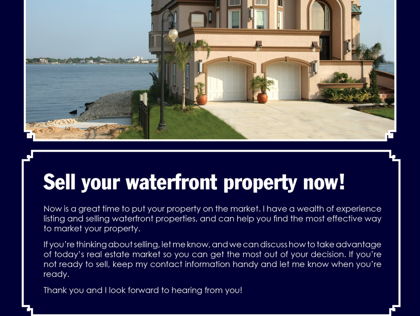 FARM: Sell your waterfront property now!