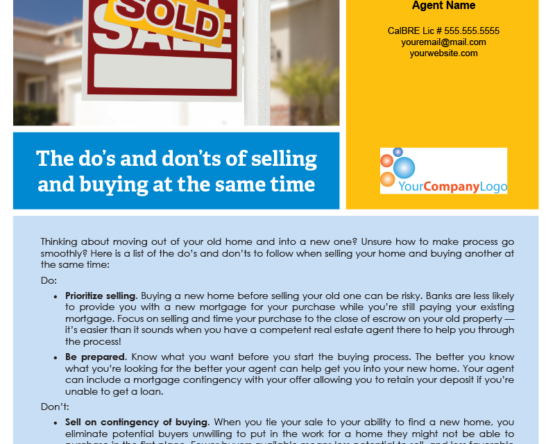 FARM: The do's and don'ts of selling and buying at the same time