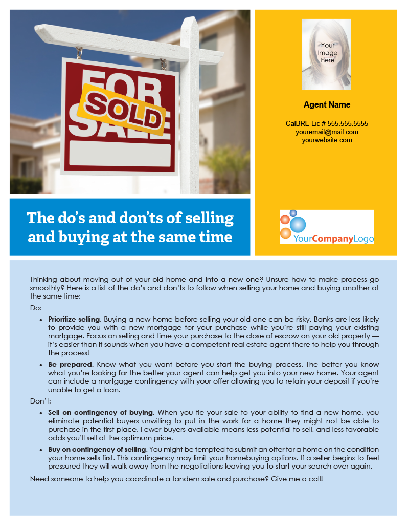 Selling-then-buying