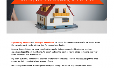 FARM: Selling your home quickly in a divorce