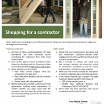 Shop for a contractor
