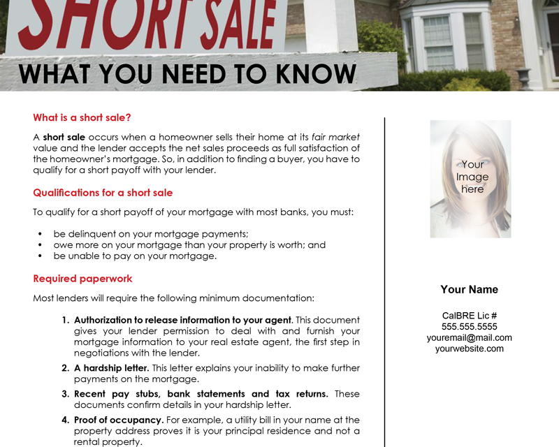 FARM: Short sales: What you need to know