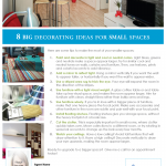 Decorating ideas for small spaces