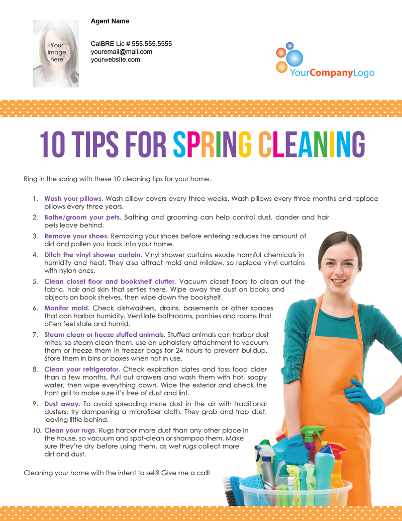 Farm 10 tips for spring cleaning first tuesday journal - Tips for dusting your home ...
