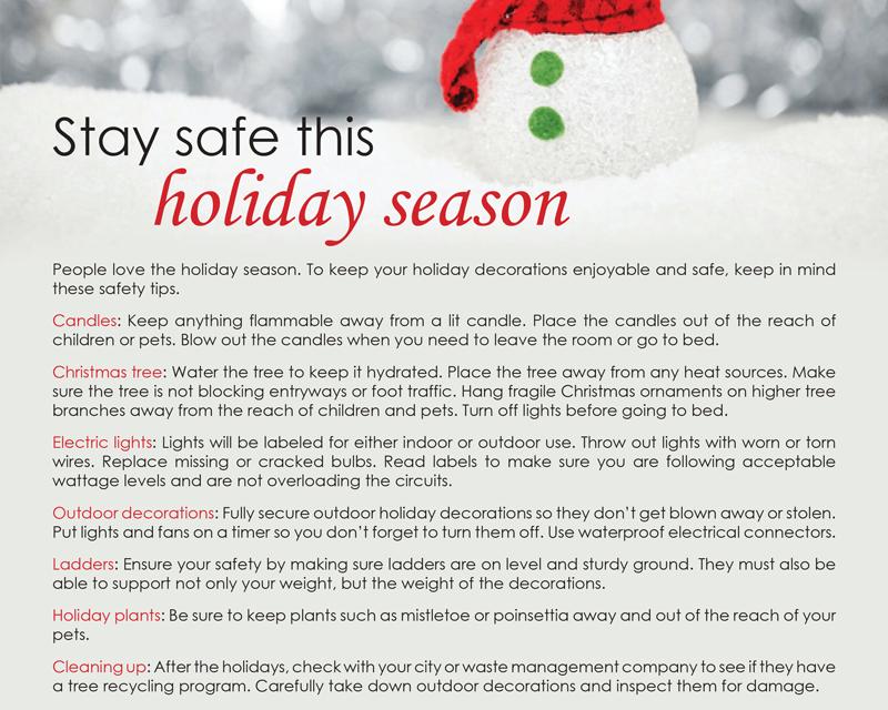 FARM: Stay safe this holiday season