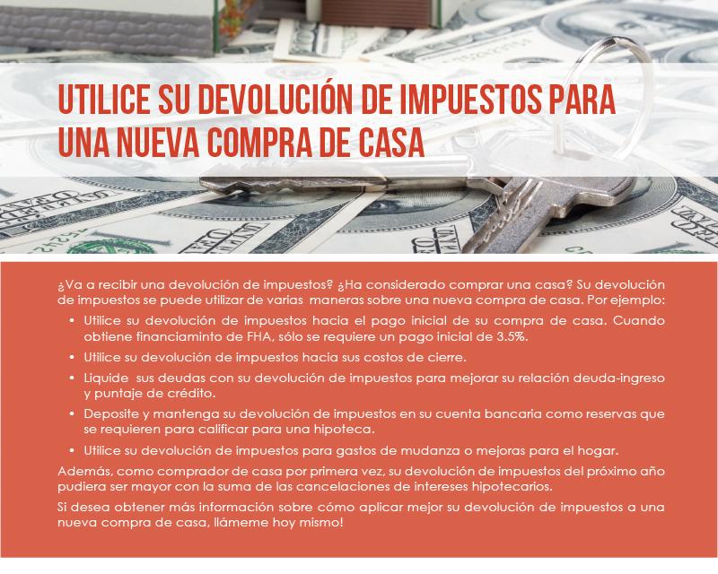 FARM: Utilice su devolución de impuestos para una nueva compra de casa