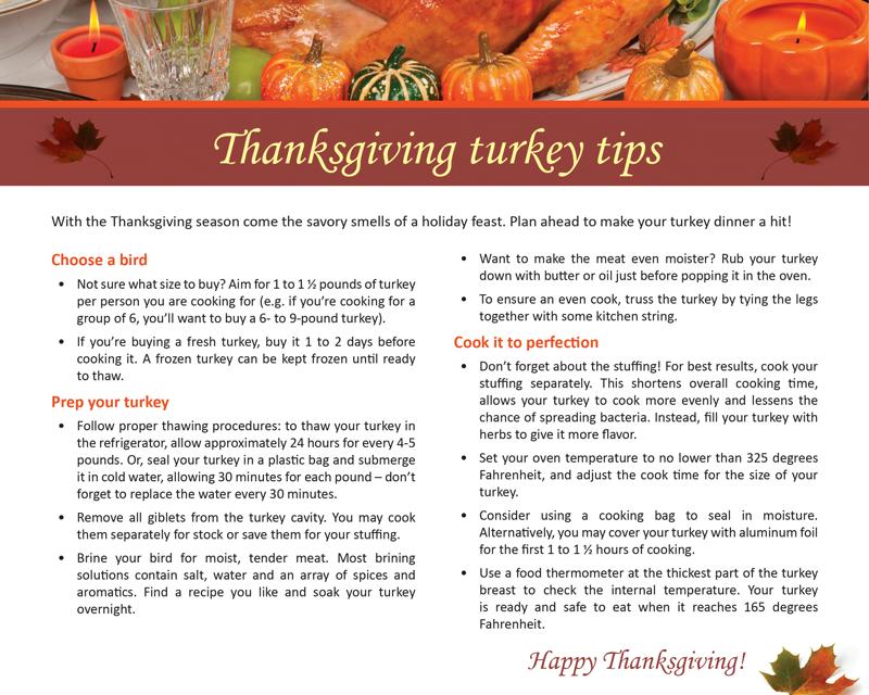 FARM: Thanksgiving turkey tips