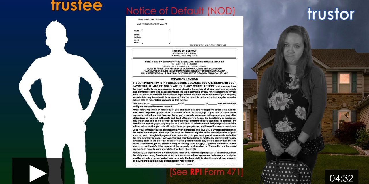 The Notice of Default