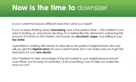 FARM: Now is the time to downsize!