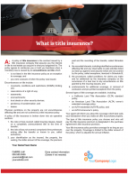 Client Q&A: What is title insurance?