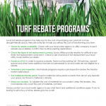 Turf rebate programs