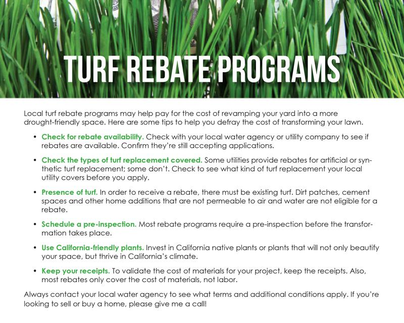 FARM: Turf rebate programs