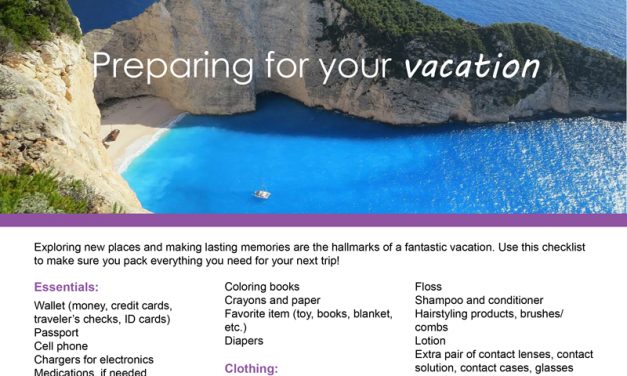 FARM: Preparing for your vacation
