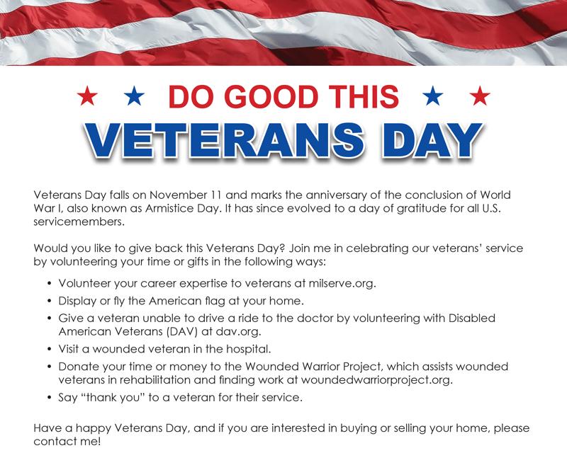 FARM: Do good this Veterans Day