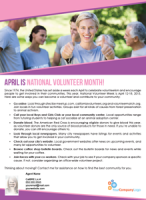 FARM: April is national volunteer month!