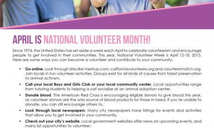 FARM: April is national volunteer month!