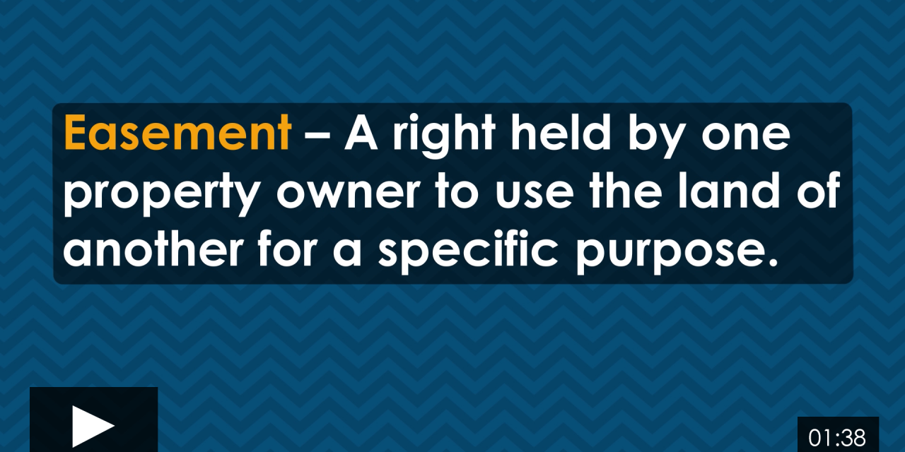 Word-of-the-Week: The Quick Tell-All about Easements