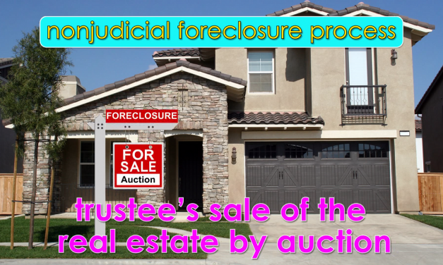 Word-of-the-Week: Nonjudicial foreclosure