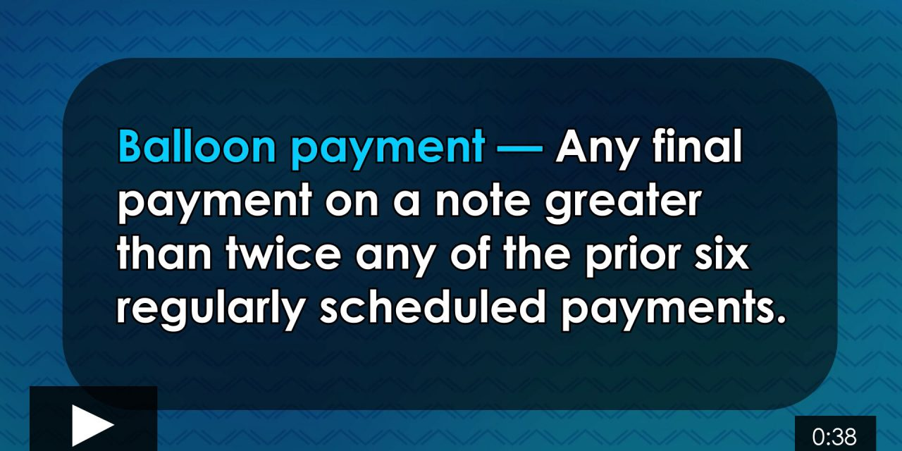Word-of-the-Week: Balloon payment