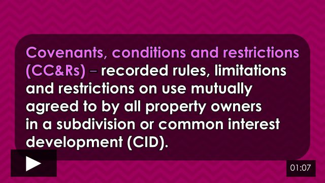 Word-of-the-Week: Covenants, conditions & restrictions (CC&Rs)