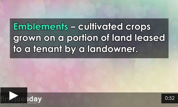 Word-of-the-Week: Emblements