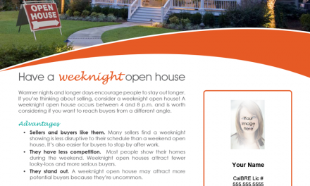 FARM: Have a weeknight open house