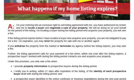 Client Q&A: What happens if my home listing expires?
