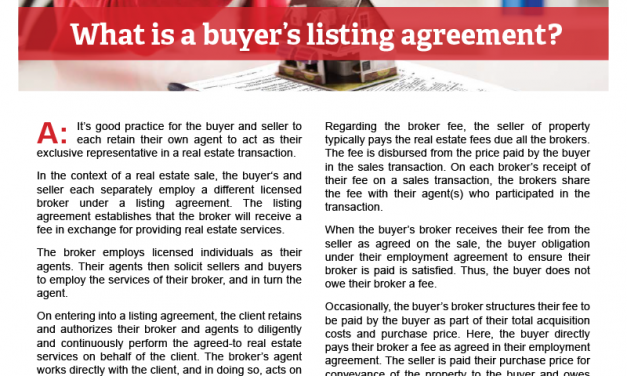 Client Qa What Is A Buyers Listing Agreement First Tuesday Journal