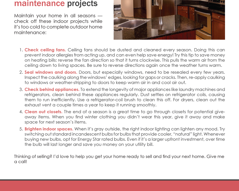 FARM: Five easy winter maintenance projects