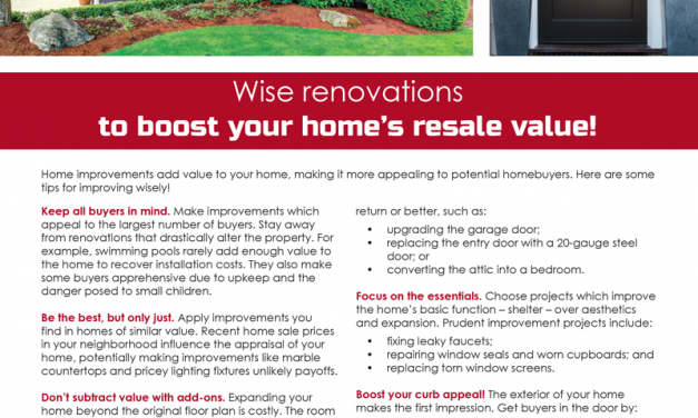 FARM: Wise renovations to boost your home's resale value