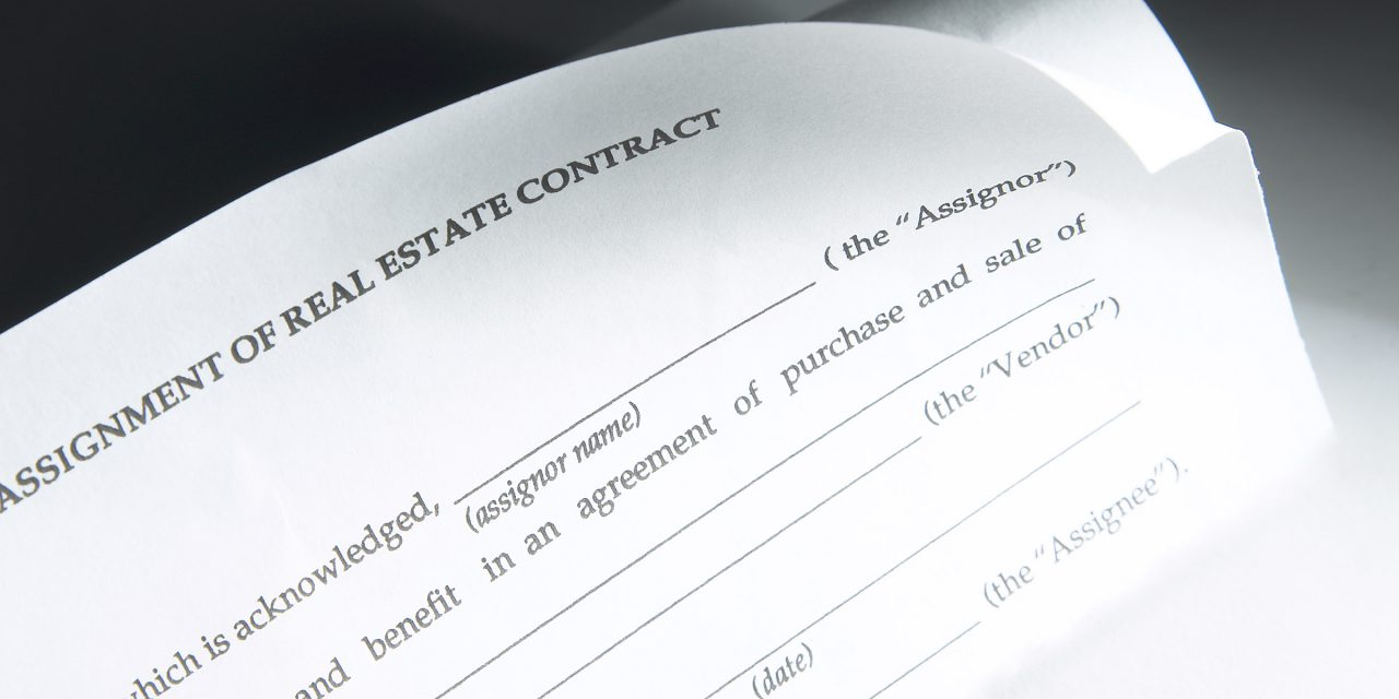 Assignment of trust deed to trustee