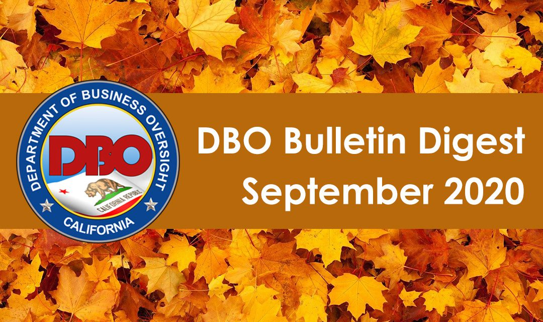 DBO Bulletin Digest September 2020
