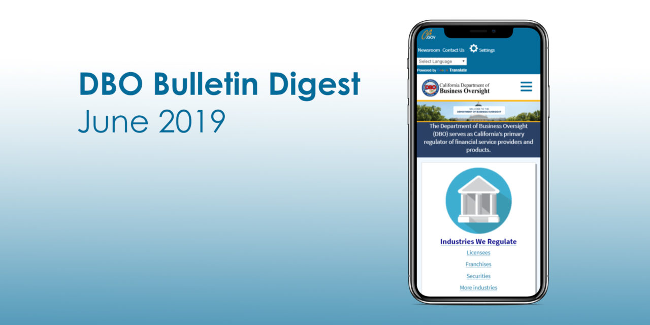 DBO Bulletin Digest June 2019