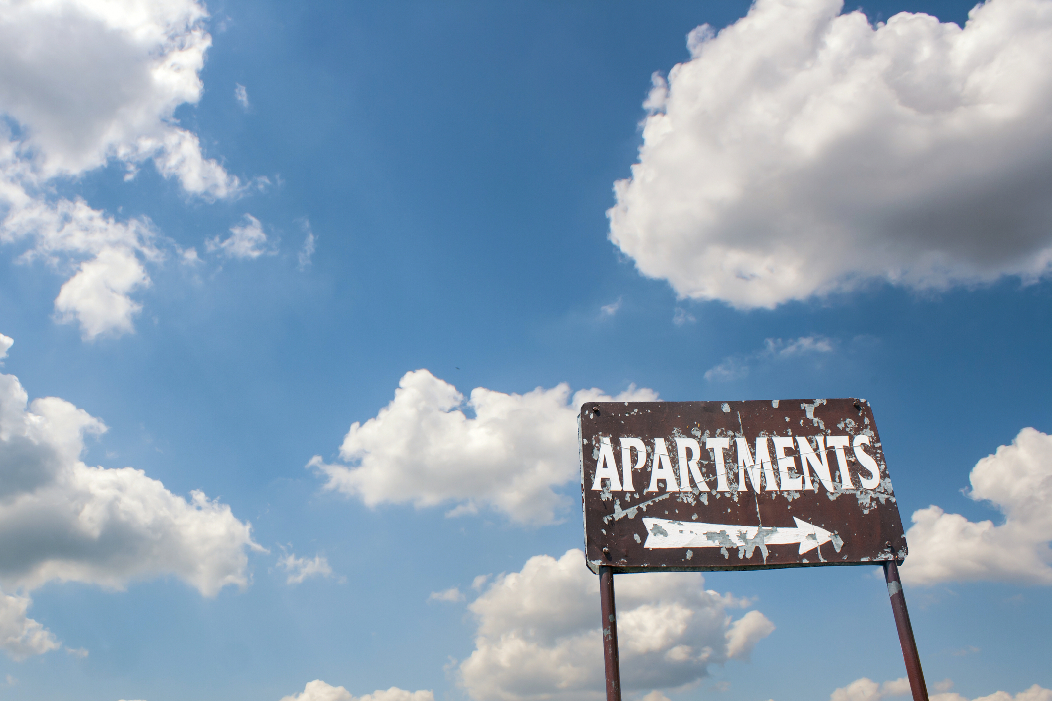 Apartments sign