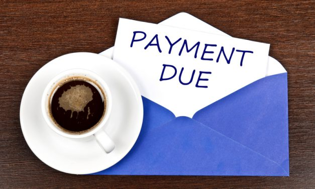 payment due coffee blue