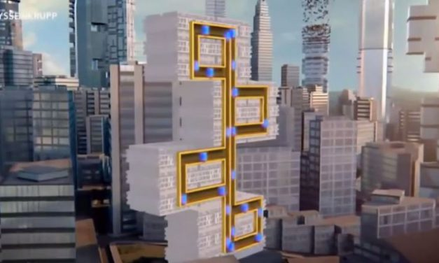 Futuristic elevators that move in every direction