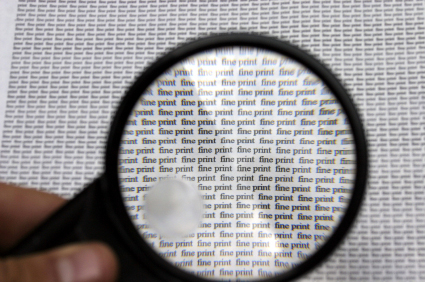 magnifying glass fine print