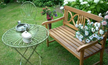 Does the hardship of removing patio furniture grant a neighbor an equitable easement over a property owner's land?