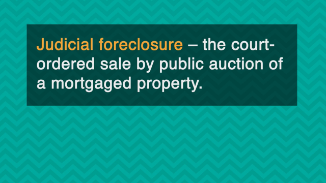Word-of-the-Week: Judicial foreclosure
